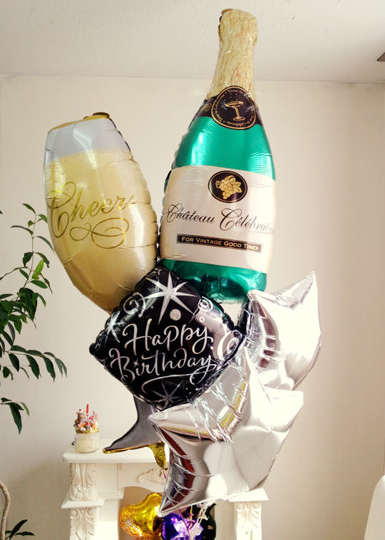1 for Champagne balloon wall