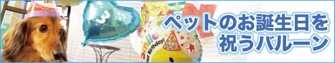 ペットの誕生日バルーン