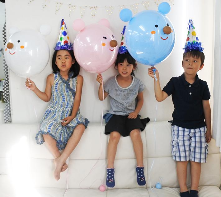 誕生日バルーン くまちゃん