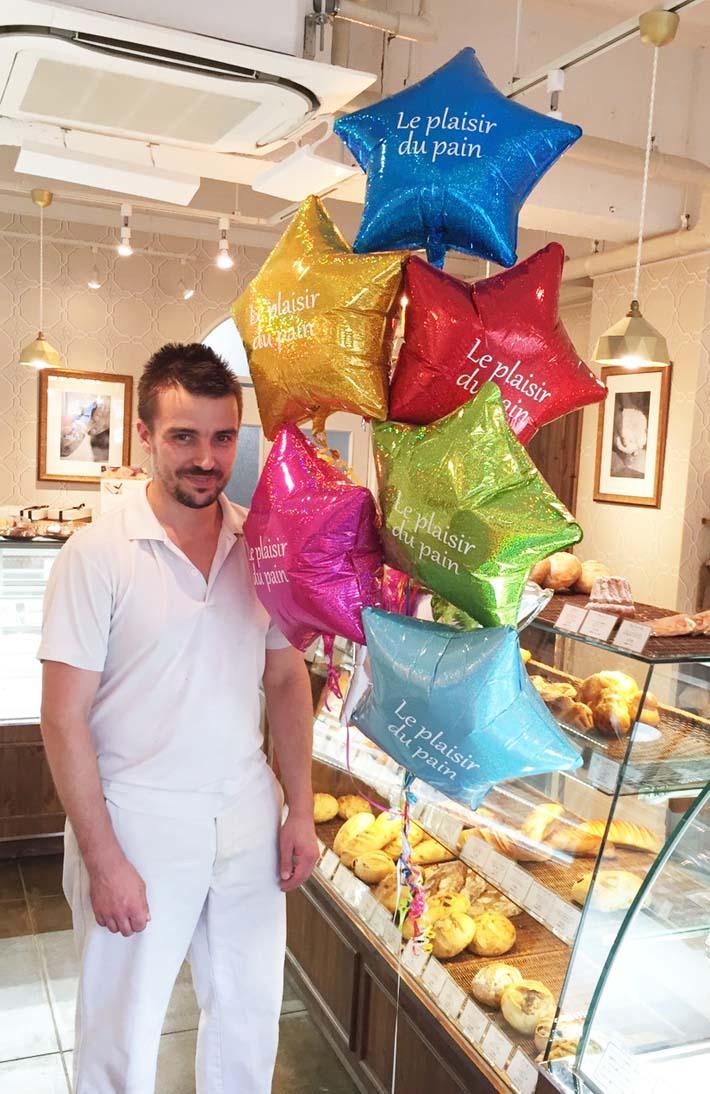 開店のお祝い 店名入り 星のバルーン