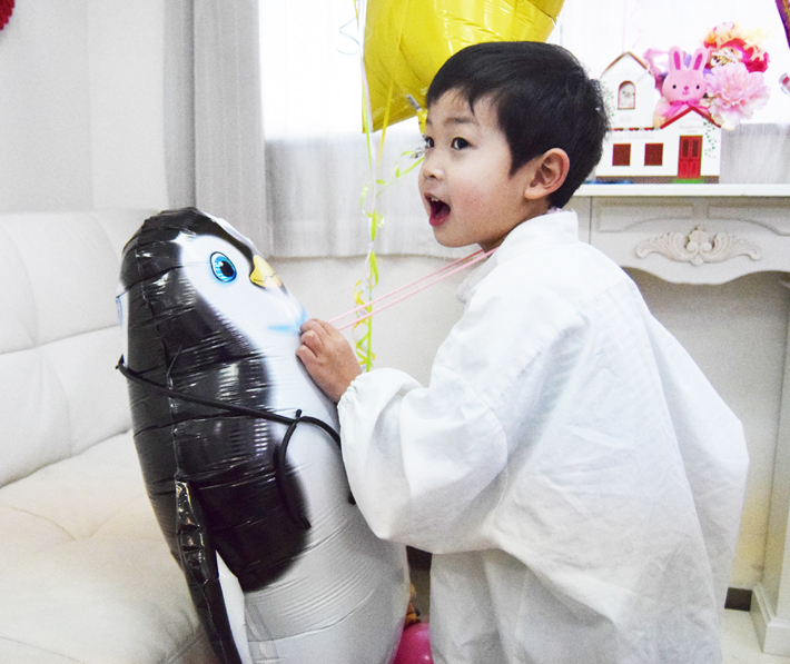 小児科、開院お祝いバルーン