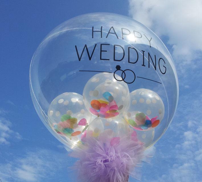 ンフェッティバルーン結婚式