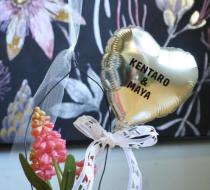 結婚お祝いバルーン