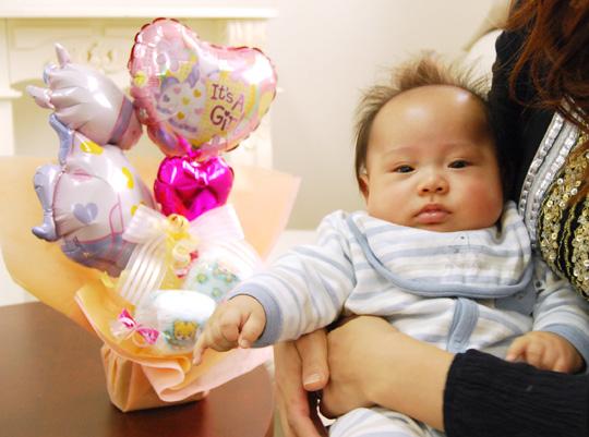 出産祝いに♪おむつキャンディ キュートアレンジ 女の子  出産祝いに♪おむつキャンディ キュート