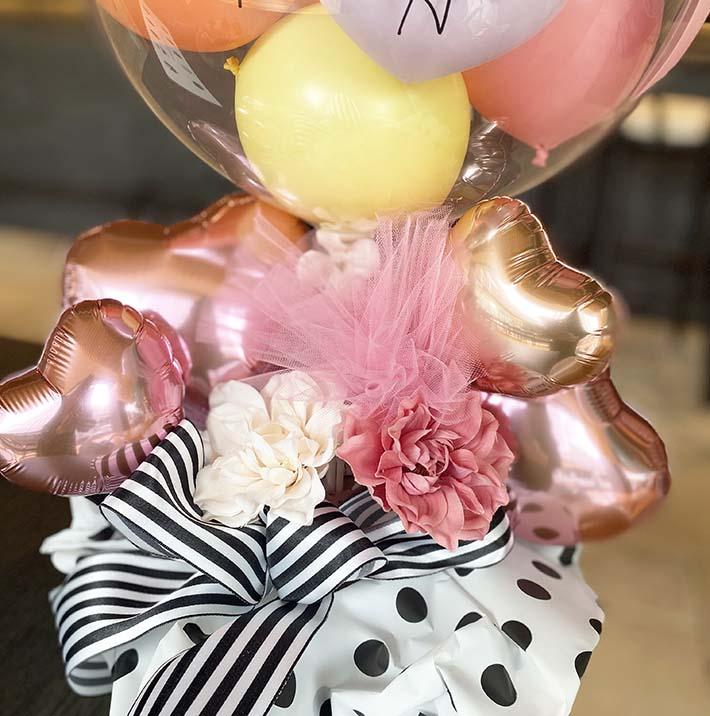 結婚式ピンクでかわいいお祝いバルーン