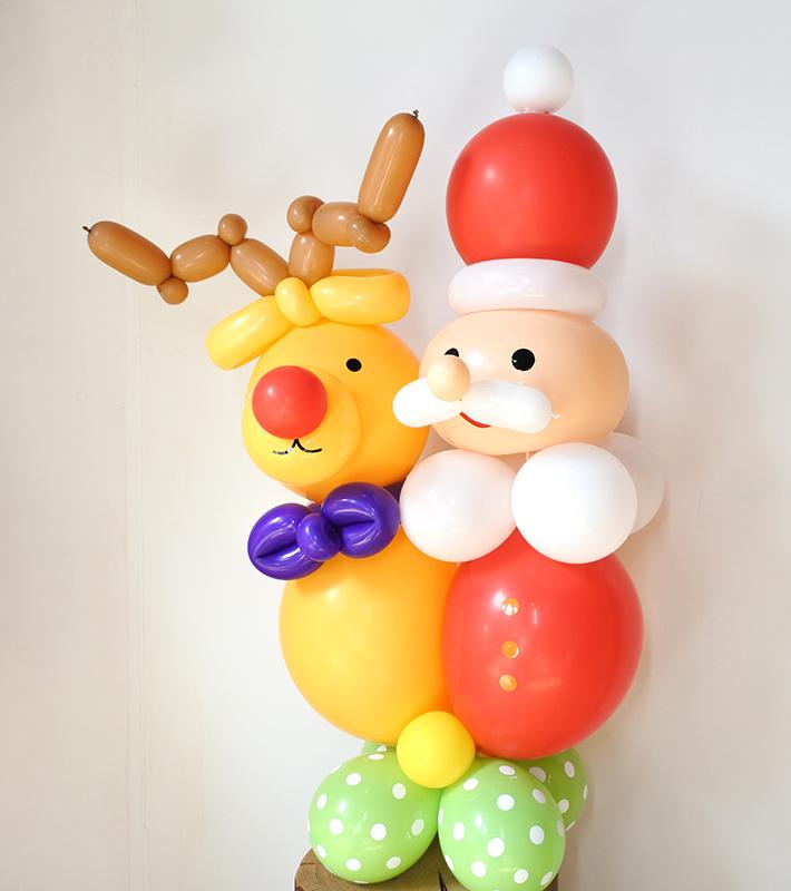 【バルーンアート オンライン・店舗 同時開催レッスン】11月 サンタとトナカイのバルーンドール