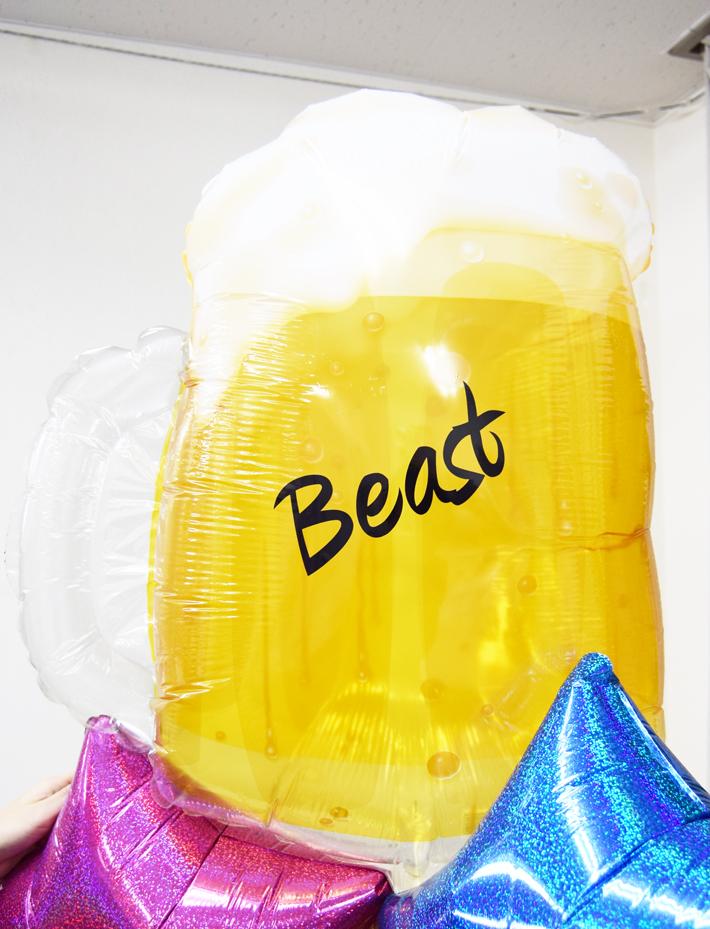 開店のお祝い ビールブーケ