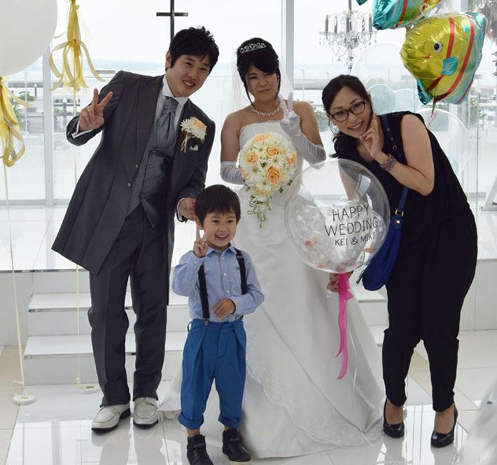 バルーン電報 結婚式コンフェッティバルーン